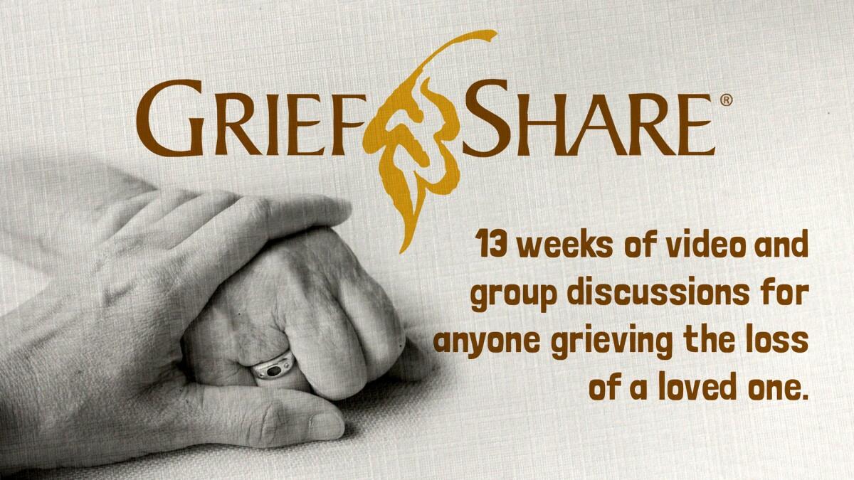GriefShare - Tuesdays 6:30 PM