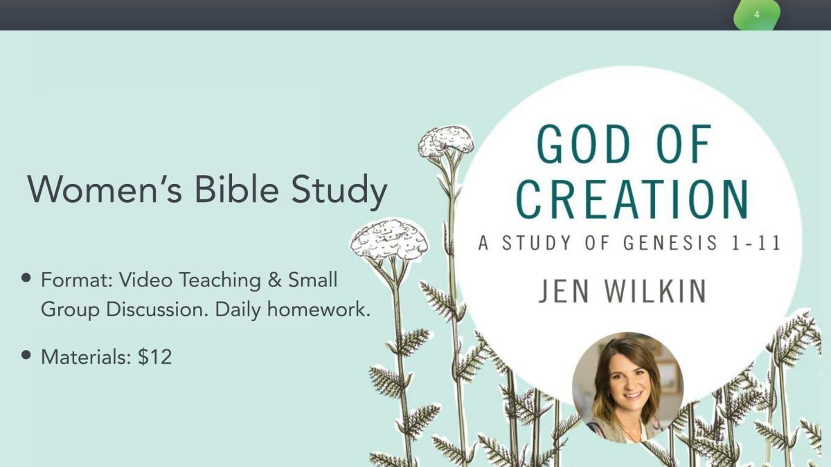 Tuesday Women's Bible Study